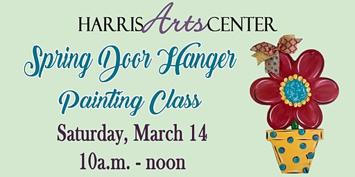 Spring Door Hanger Painting Class - Saturday