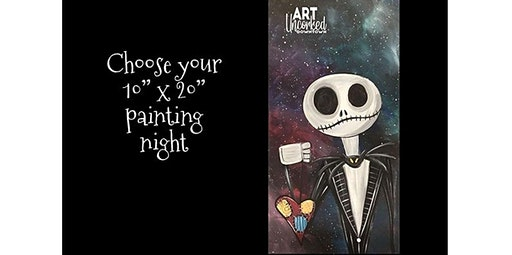 """13 and over - Choose your 10"""" x 20"""" painting night!  (02-20-2020 starts at 6:00 PM)"""