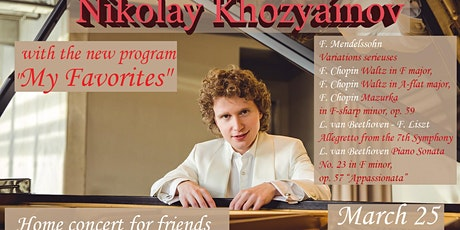 "Nikolay Khozyainov with the program ""My Favorites"" in Vancouver tickets"