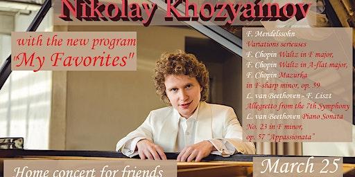 """Nikolay Khozyainov with the program """"My Favorites"""" in Vancouver"""