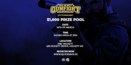 CALL OF DUTY $1K QUICKSAVE CUP tickets