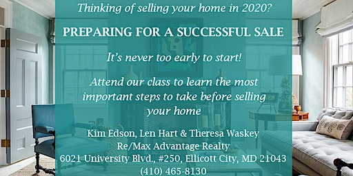 Home Selling Workshop: Get the Facts to Prepare for a Successful Home Sale