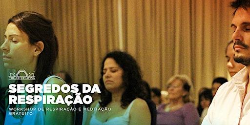 Workshop de Respiração e Meditação - uma introdução gratuita ao curso Arte de Viver Happiness Program em Tijuca