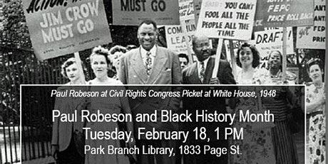 """""""Paul Robeson and Black History Month"""" tickets"""