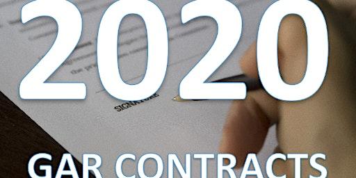 2020 GAR CONTRACT UPDATES