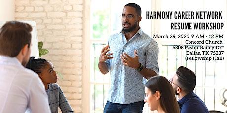 Harmony Career Network Resume Workshop tickets