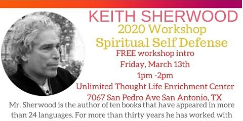 FREE Workshop Intro Spiritual Self Defense in San Antonio TX