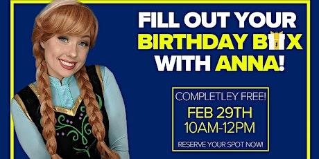 Create a Birthday Box with Anna -FREE tickets