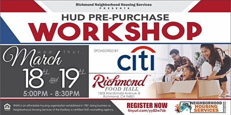 Two Day (18&19) Pre Purchase Workshop- Richmond tickets