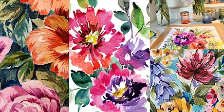 Spring Blooms - Floral Watercolour Inks Painting with Davinder Madaher tickets