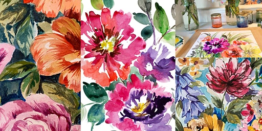 Spring Blooms - Floral Watercolour Inks Painting with Davinder Madaher