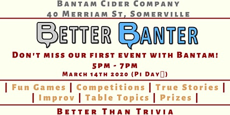 Better Banter @ BANTAM CIDER COMPANY tickets