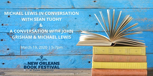 Michael Lewis with Sean Tuohy & John Grisham at New Orleans Book Fest
