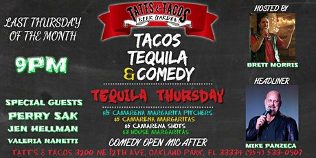Tacos Tequila & Comedy tickets