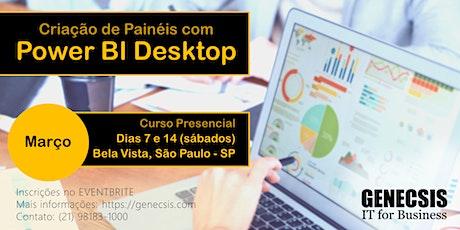 Criação de Painéis com Power BI Desktop ingressos