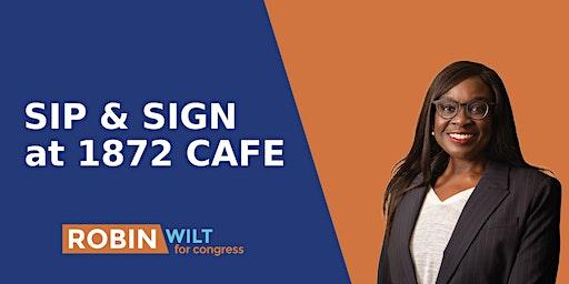 Sip & Sign @ 1872 cafe