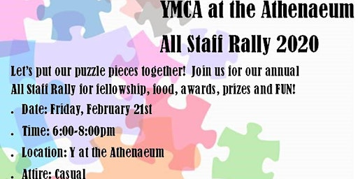 YMCA at the Athenaeum Annual Staff Rally
