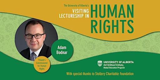 Visiting Lectureship in Human Rights - Adam Bodnar