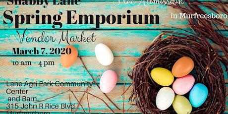 Shabby Lane's Spring Emporium vendor market tickets