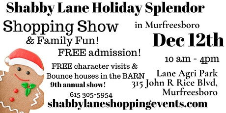 Shabby Lane's Holiday Splendor in Murfreesboro tickets