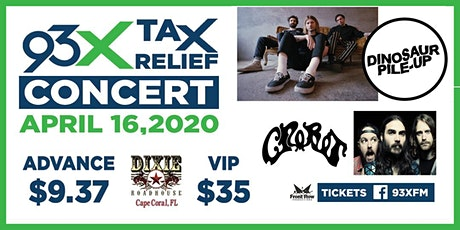 """93X """"Tax Relief"""" concert with Dinosaur Pile Up and Crobot tickets"""