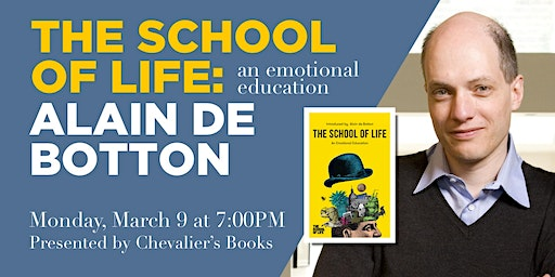 Alain de Botton signs 'The School of Life: An Emotional Education'