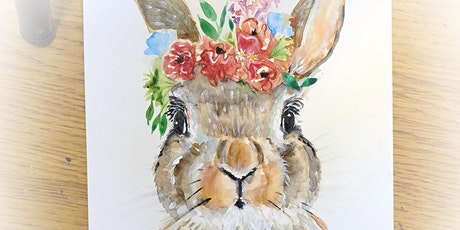 Boho Bunny Watercolour Workshop at Shop & Play Cafe-Sat, March 21 tickets