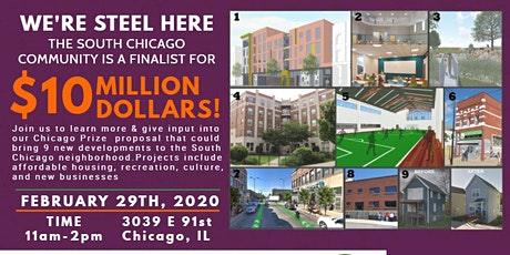 We're Steel Here: Celebrating $10 Million Opportunity for South Chicago tickets
