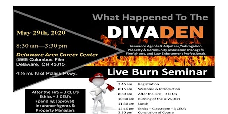 What Happened to the DIVA DEN? 2020 Live Burn Seminar tickets