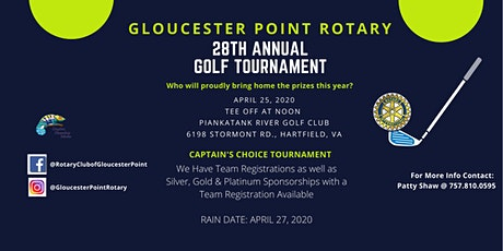 28th Annual Golf Tournament - Gloucester Point Rotary tickets