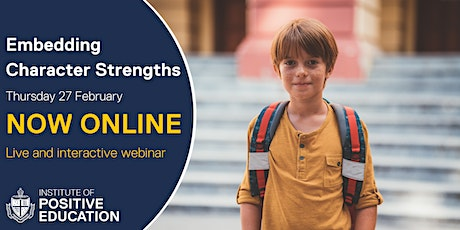 WEBINAR: Embedding Character Strengths, Online (February 2020) tickets