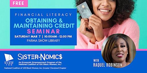 Seminar : Obtaining & Maintaining Credit : NCBW100 Inc. Cleveland