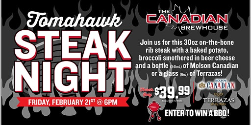 Tomahawk Steak Night (Edmonton Ellerslie) - Friday