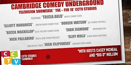 Cambridge Comedy Underground TV Taping S2:EP5 TUE, FEB18 /CCTV STUDIOS tickets