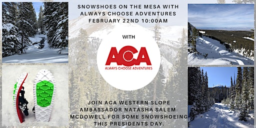 Western Slope Snowshoes On the Mesa with Always Choose Adventures