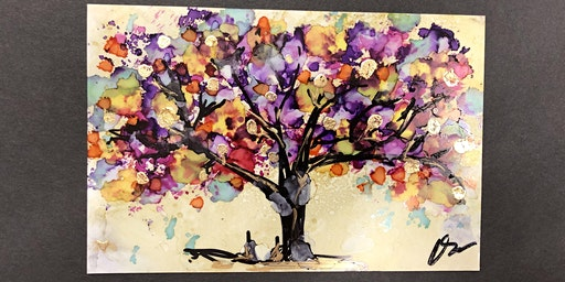 Alcohol Ink Tree Workshop at the Tett