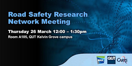 Road Safety Research Network Meeting tickets