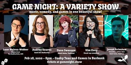 Game Night: A Variety Show: Comedy, Comics, Music, Games! tickets