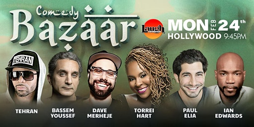 Ian Edwards, Bassem Yousseff, and more - Comedy Bazaar