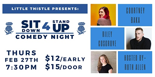 Sit Down for Stand Up- Comedy Night