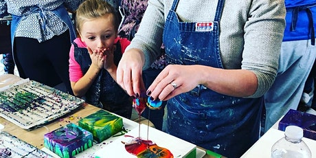 Parent & Child Liquid Glass; A Pouring Medium Workshop - Tett tickets