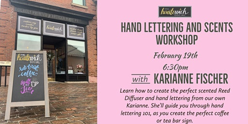 Hand Lettering and Scents Workshop