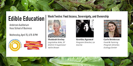Edible Education - Food Access, Sovereignty, and Ownership tickets