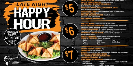 LATE NIGHT HAPPY HOUR FOOD! EVERY NIGHT UNTIL 12AM tickets