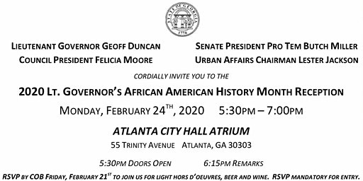 2020 Lt. Governor's African American History Month Reception