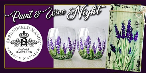 Lavender Wine Glasses or Wall Art