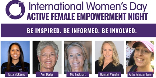 Active Women! A Female Empowerment Night for International Women's Day 2020