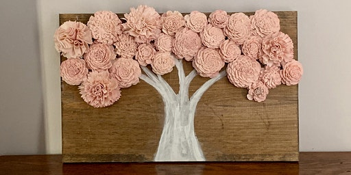 Cherry Blossom Themed Wood Flower Wall Decor