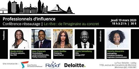 #4 PROFESSIONNELS D'INFLUENCE - Le rêve : de l'imaginaire au concret - JCCH billets