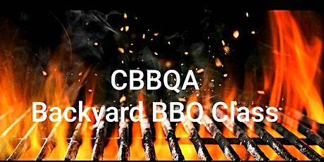 CBBQA BACKYARD BBQ CLASS tickets